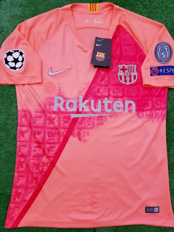 the latest 87aa5 2aa39 2018/19 Barcelona 3rd kit soccer jersey for Sale in Raleigh, NC - OfferUp