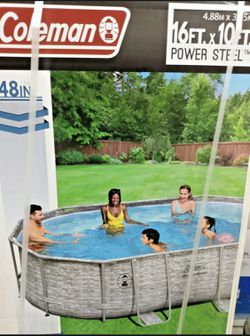 POOL - Oval Swimming Pool Brand New Free Delivery! Rainy Day Sale! Thumbnail