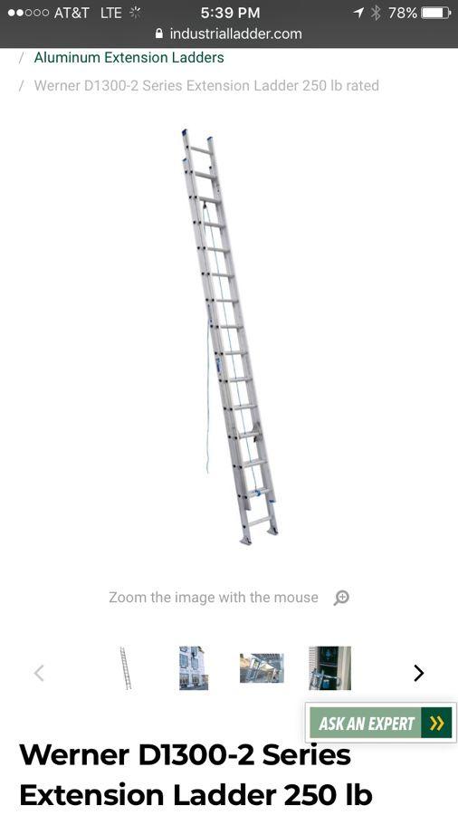 Werner extension ladder 27ft $300 ladder for $150 for Sale in Lake Worth,  FL - OfferUp