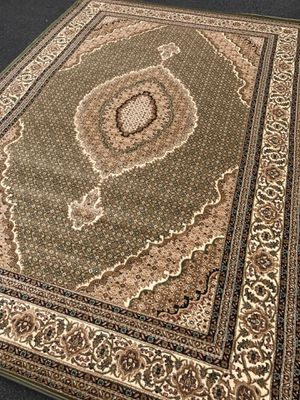 Brand new Tabriz design area rug size 8x11 nice green carpet Persian style rugs and carpets for Sale in Burke, VA