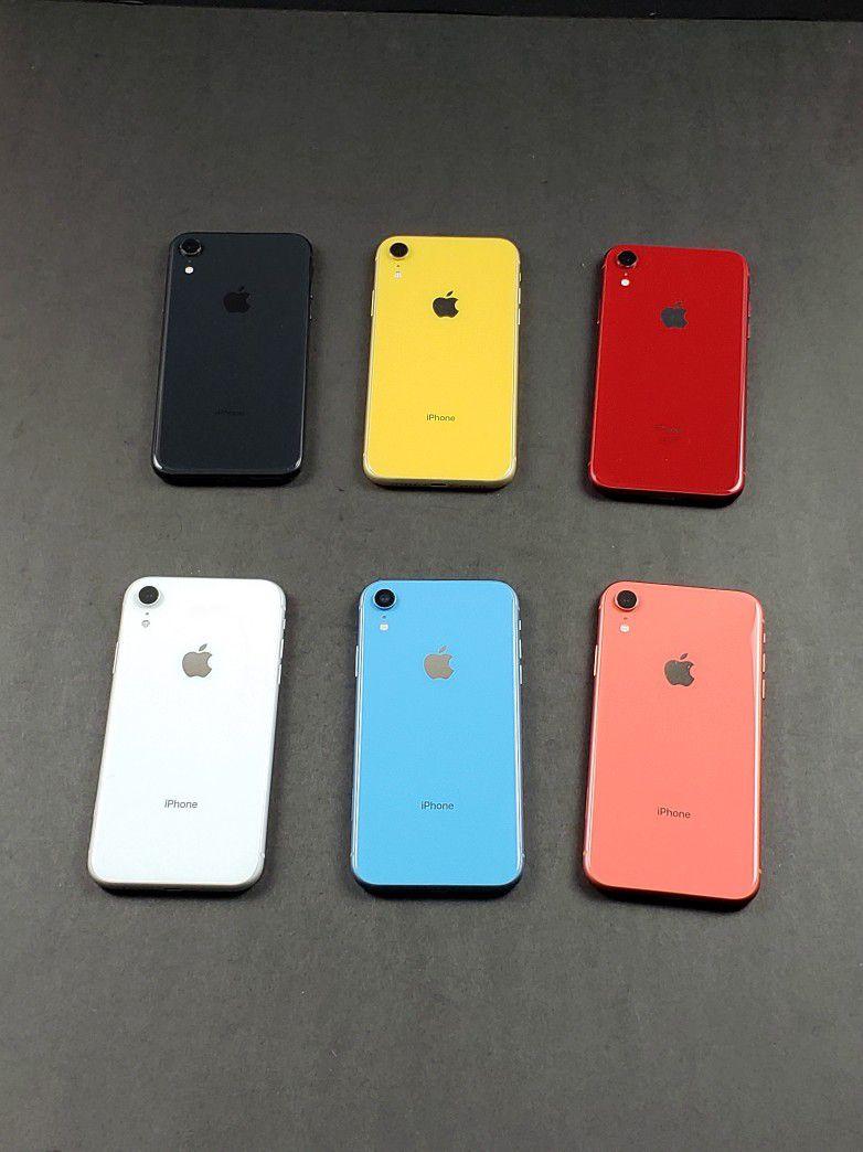 iPhone XR 64GB Unlocked Phone (AT&T T-Mobile Verizon Sprint Straighttalk Cricket MetroPCS Boost)