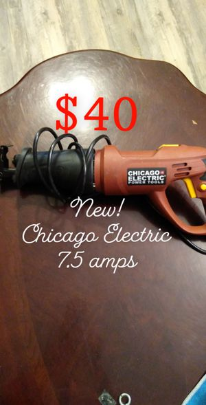 Photo $40 NEW!!! CHICAGO ELECTRIC RECIPROCATING SAW