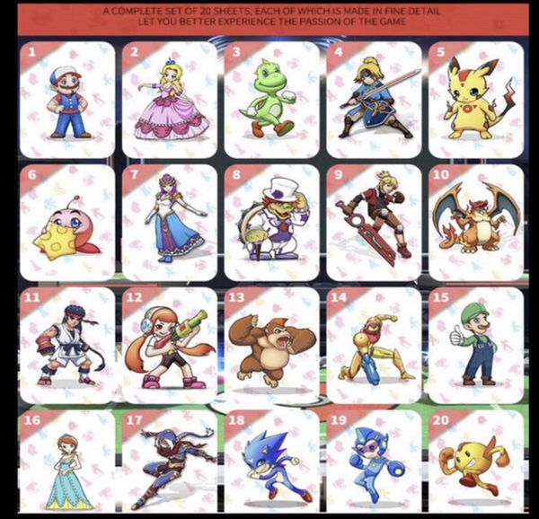 20PCS Super Smash Bros NFC Tag Amiibo Cards Set for Nintendo Switch for  Sale in Santa Ana, CA - OfferUp