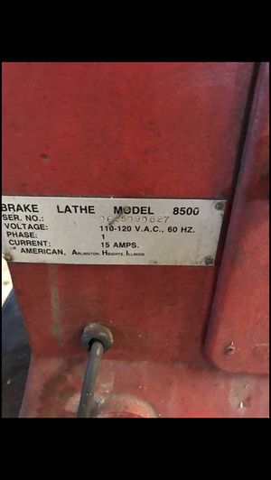 Photo Break lathe 8500