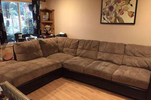 MODERN LUXURY LIGHT BROWN 5 SEATER L-SHAPED SECTIONAL SOFA!!!🛋 for Sale in  San Jose, CA - OfferUp