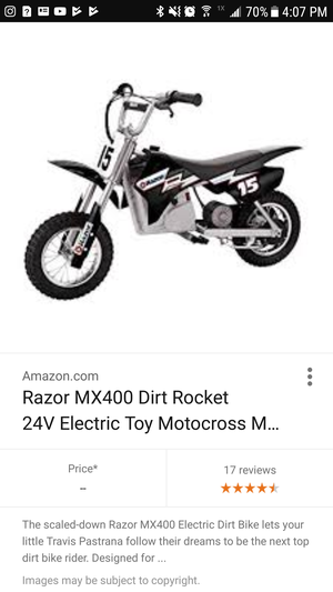 Razor electric dirtbike for Sale in Washington, DC