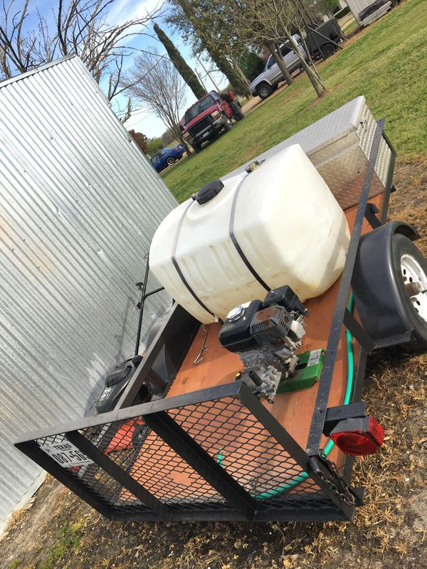 4X8 Trailer, Pressure Washer John Deere, TOOLBOX 100 Gallon tank 1800 OBO!  for Sale in Dallas, TX - OfferUp