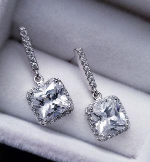 S925 Sterling Silver Diamond Earrings for Sale in Aspen Hill, MD
