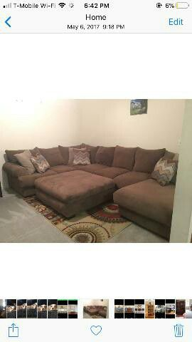 Taupe 3 piece sectional with ottoman for Sale in Lorton, VA