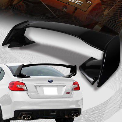 For 2017 2018 Subaru Wrx Sti Oe Style Painted Black Abs Rear Trunk Spoiler Wing