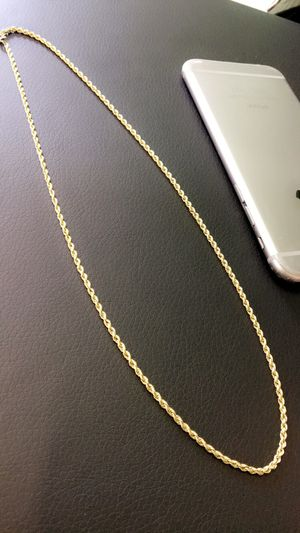 Gold chain 10K 3mm rope necklace for Sale in Houston, TX