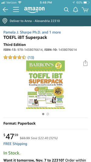 TOEFL new set for Sale in Franconia, VA