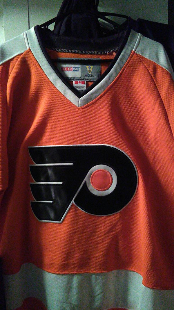brand new 39c8f 68563 New dave schultz hockey jersey all sewn numbers and letters excellent  condition size 46 for Sale in Philadelphia, PA - OfferUp