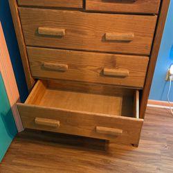 Tall Wood Dresser Thumbnail