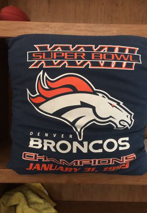 NFL - Denver Broncos: Super Bowl XXXIII throw pillow for Sale in Goodyear, AZ