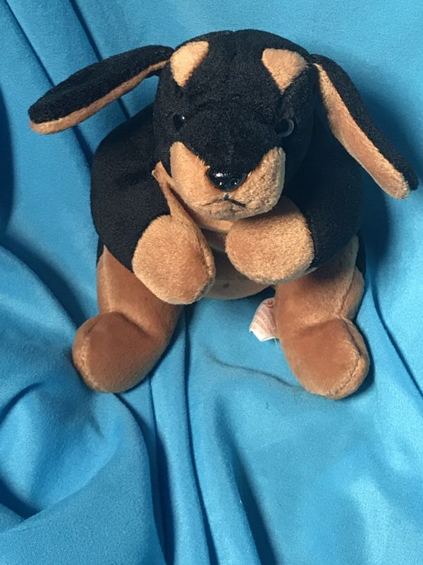 55a29c6aec9 1996 Doby the Doberman dog Plush Ty Beanie Babies vintage plush doll ...