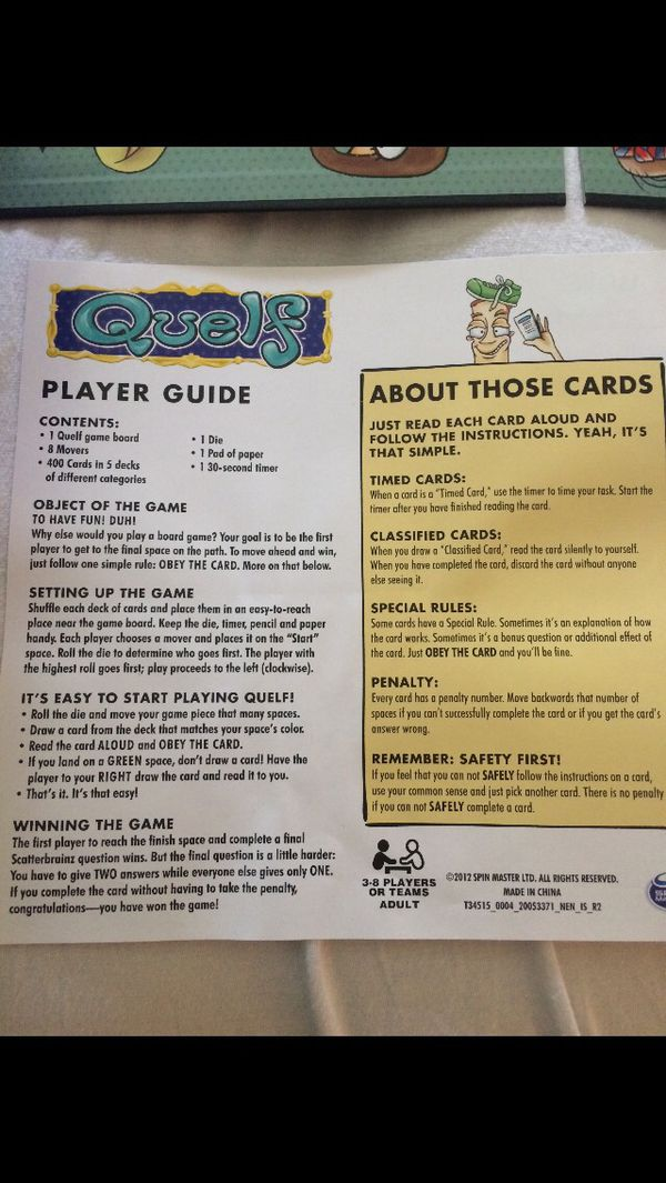 Board Games 5 Each Like New Quelf And Apples To Apples For Sale In