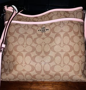 Photo Coach cross body purse, pink