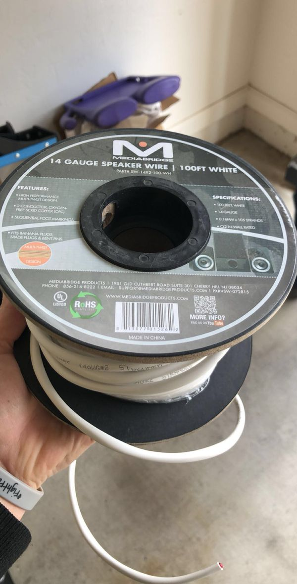 100 ft 14 gauge speaker wire for Sale in Tucson, AZ - OfferUp