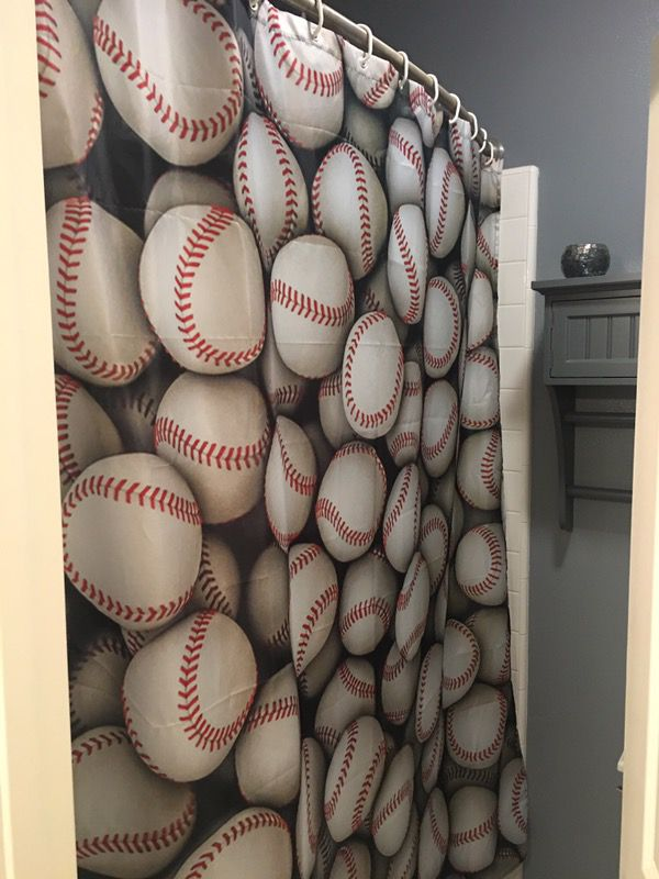 Baseball Shower Curtain For Sale In San Clemente CA