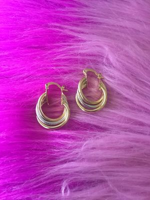 Twisted plated earrings for Sale in Orlando, FL