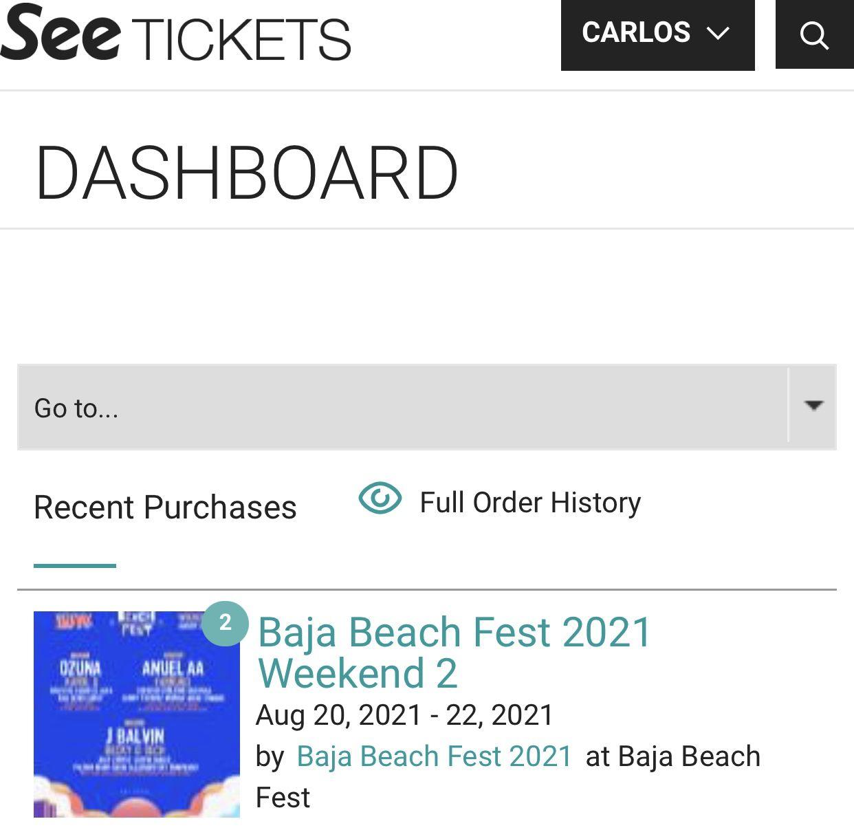 Baja Beach Tickets