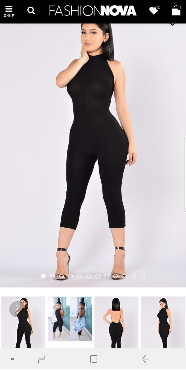 Fashion Nova Ricki jumpsuit 3x Black NWT for Sale in Blue Island 4d9a6578b