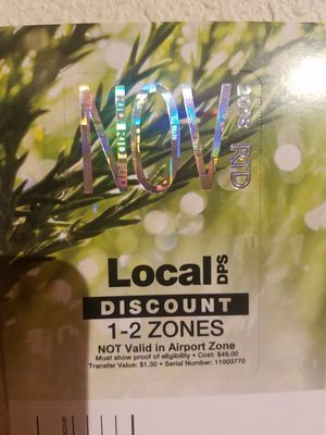 $15 Brand new monthly pass for Sale in Westminster, CO