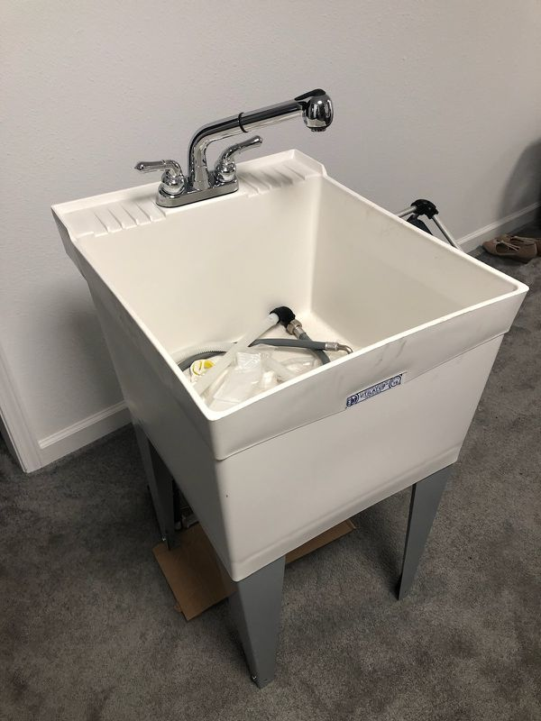 Garage Wash Basin Sink Brand New Never Used Completely With All The Hoses And Attachments