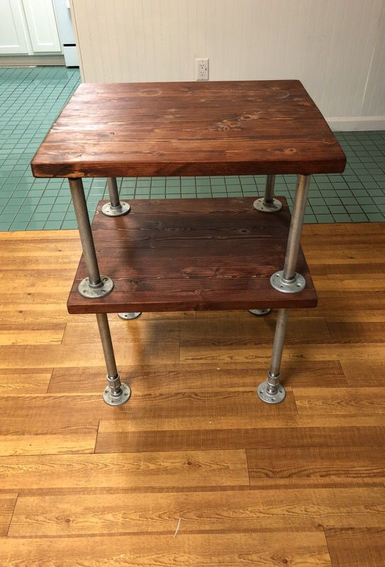 Industrial Galvanized Steel Pipe Nightstand End Table For Sale In Gainesville FL