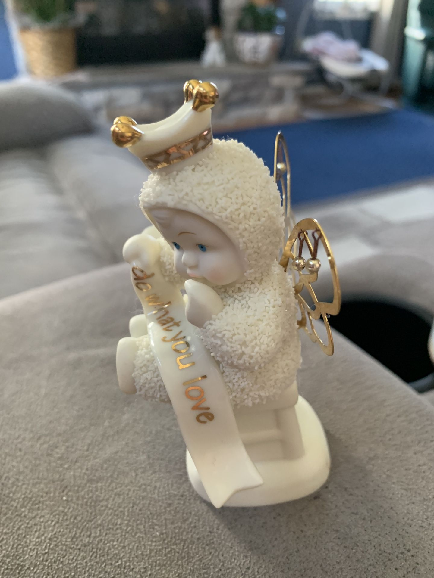 """Dept 56 Snow-babies """"Do What You Love"""" Crown and Wings 2002 retired"""