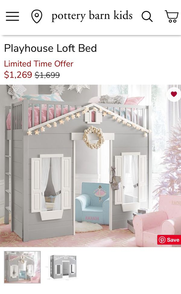 Pottery Barn Kids Playhouse Loft Bed For Sale In Maple