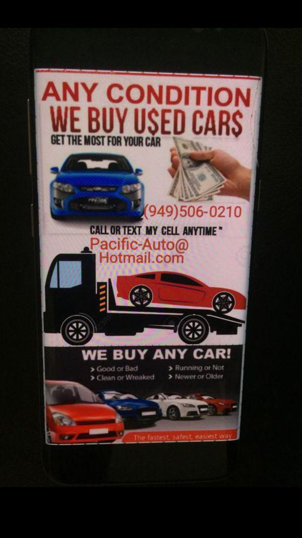 Cars For Cash $$ We Buy Cars $$ Good & Junk Cars $$ compro carros ...
