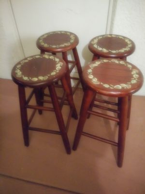 4 hand painted stools for Sale in Wesley Chapel, FL