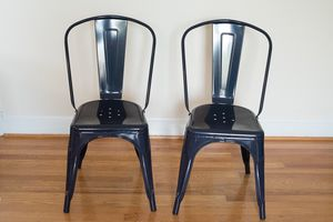 Navy Blue Metal Café Chairs for Sale in Alexandria, VA