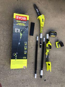 Ryobi 40v polesaw kit Thumbnail