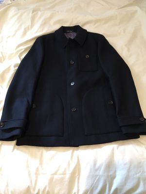 Ted baker peacoat wool over coat 4 Large navy for Sale in Los Angeles, CA
