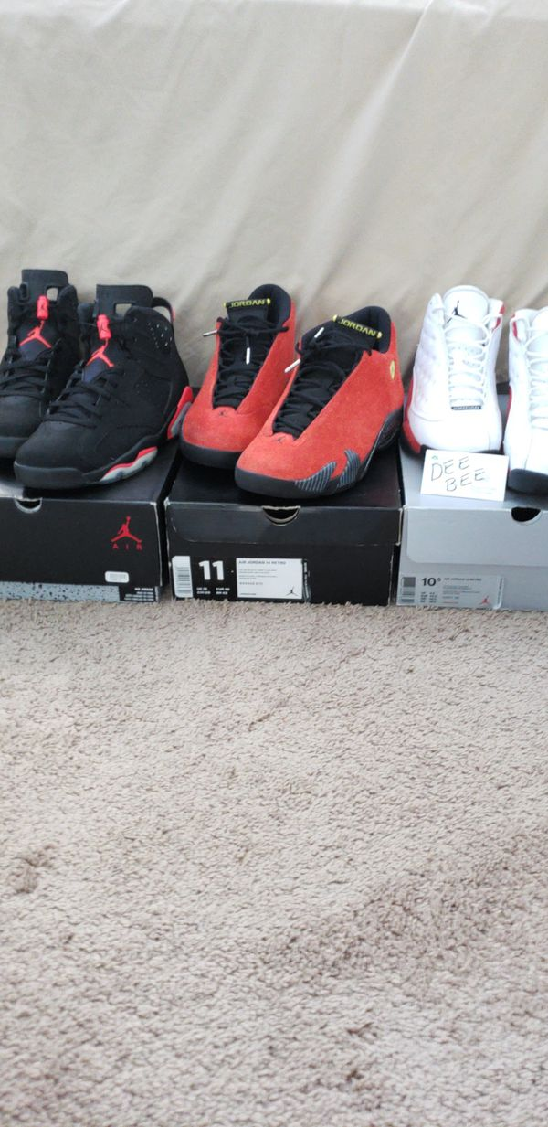 50ed473d9bb95 Air Jordan 6 Black Infrared Air Jordan 14 Ferrari Air Jordan 13 Cherry.  Indianapolis