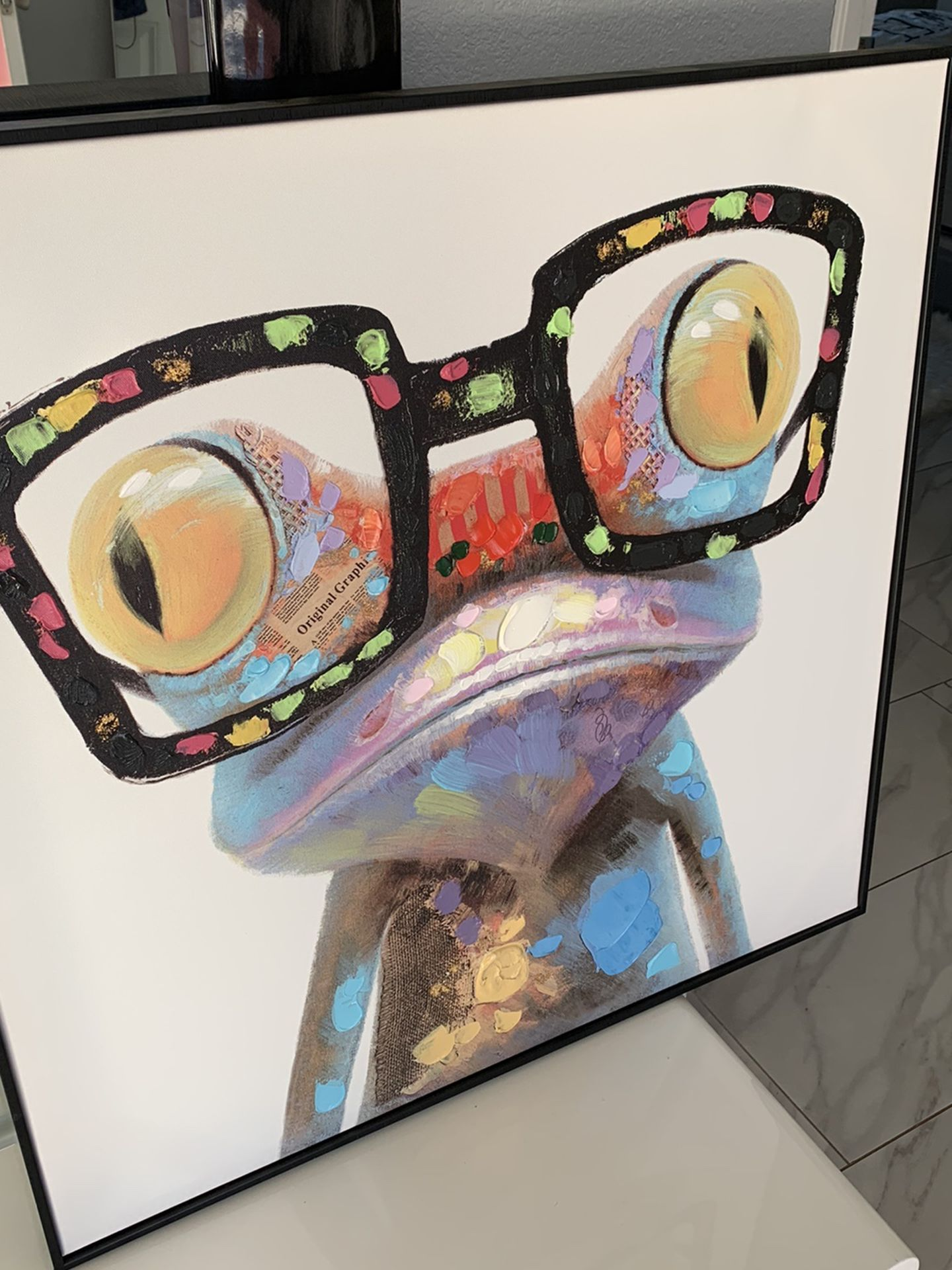 Modern Frog Oil Pintes Canvas New