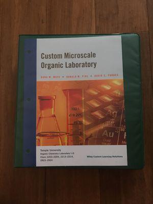 Custom Microscale Organic Laboratory Manual for Sale in Philadelphia, PA