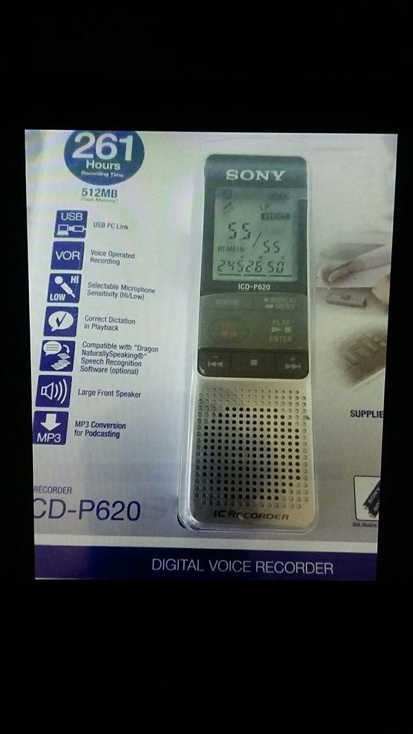 Sony ic recorder icd-p620 driver vista