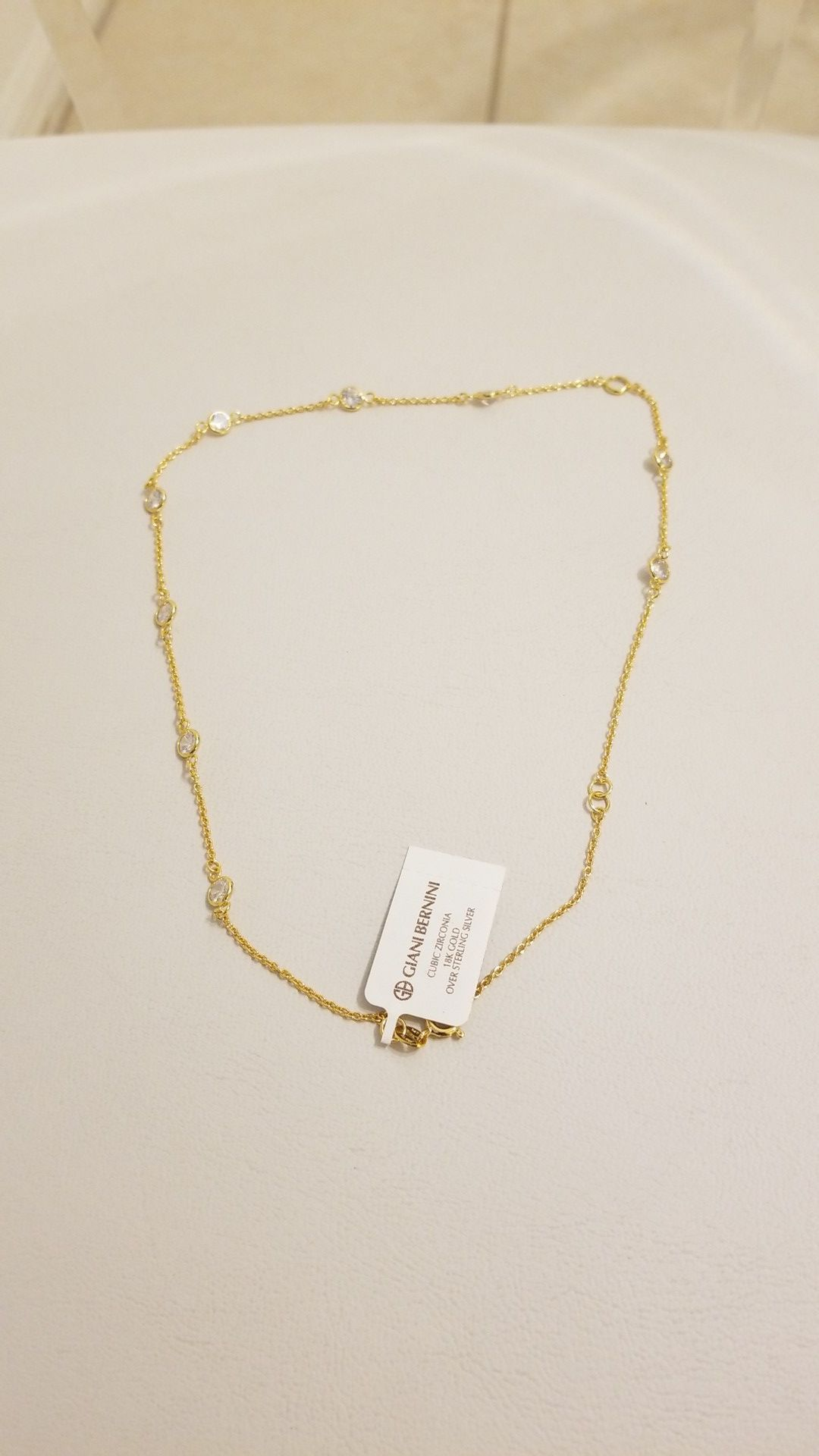 18K Gold Over Sterling Silver Necklace