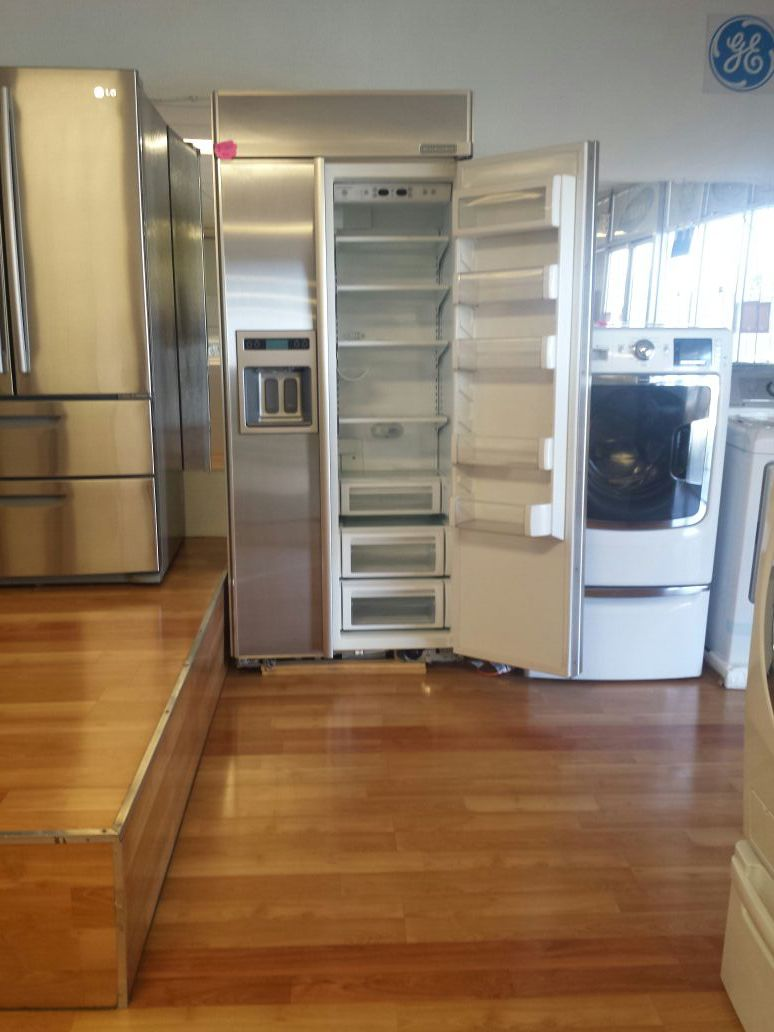 """36"""" BUILT-IN KITCHENAID STAINLESS SIDE BY SIDE"""