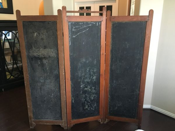 Antique Victorian Dressing Screen Room Divider for Sale in Spring