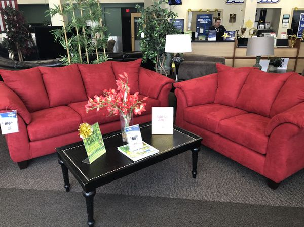 RED SOFA SET!! PAY IT OFF OVER 6 MONTHS!! for Sale in ...