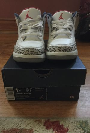 Kids Retro Jordan 3's for Sale in Richmond, VA