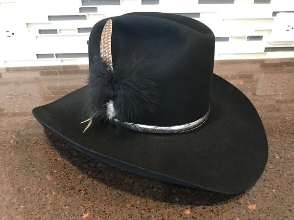 Resistol 4X Beaver 007 Black Cowboy Hat Size 7 1 8 for Sale in ... 4dbf1c70d49c
