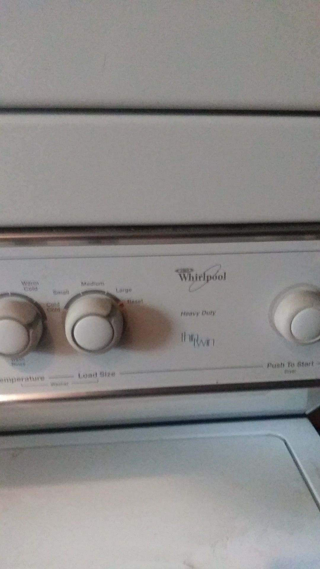 Stackable washer and dryer. Whirlpool
