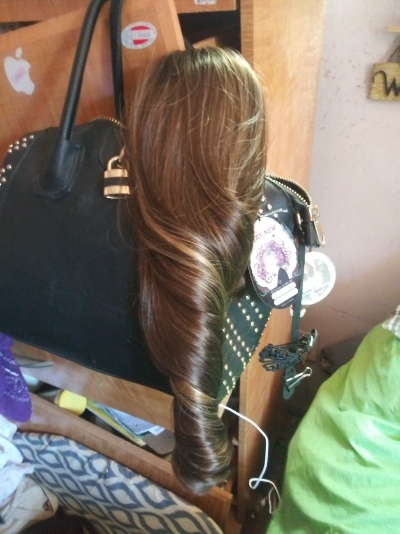 There real hair.the clip goes for 20 the long hair 30.