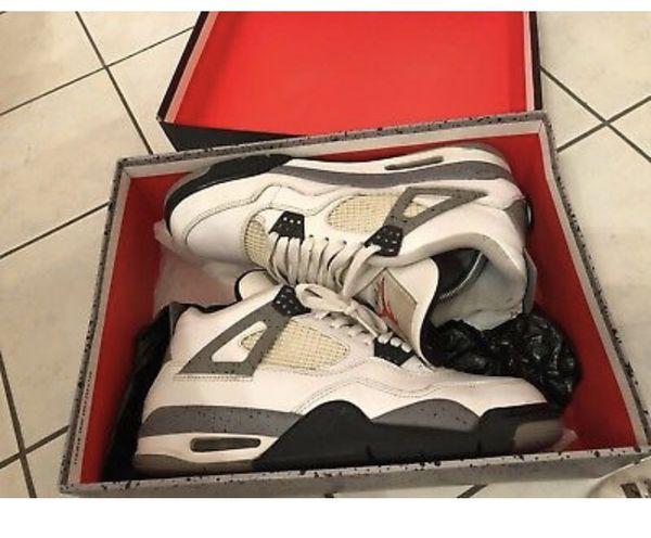 sports shoes f86dd d69ac Mens Nike Air Jordan 4 retro IV White Cement Size 8.5